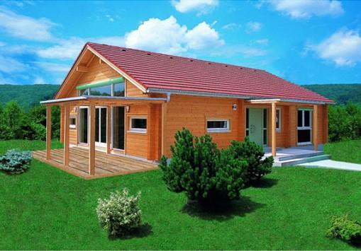 Brunarice brunarce slike mere lesena brunarica for Maison bois moderne 60m2